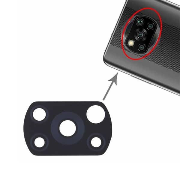 شیشه دوربین Xiaomi Poco X3